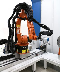 Xstress Robot on linear guide