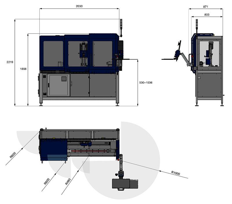 CamScan 500C Dimensions