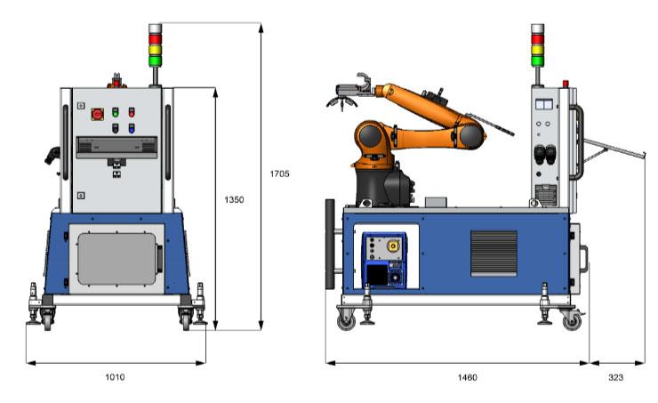xstress robot dimensions