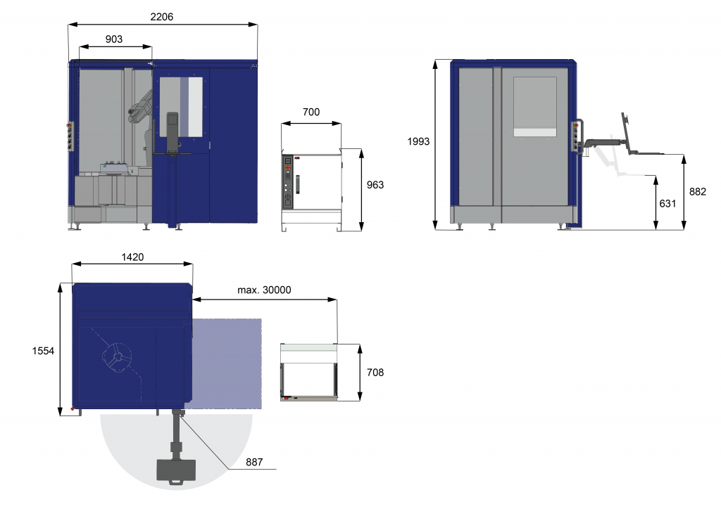 RoboScan S V dimensions